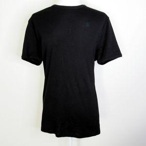 G-Star Raw Black Cotton Blend Tee Shirt Size L
